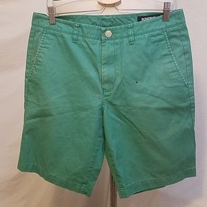 "Final BONOBOS Green 9"" Shorts, size 32"